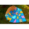 DEKY DĚTSKÁ PATCHWORK RAG DEKA-KOČIČÍ II 1800 Měkounká a teplá dětská patchworková deka šitá technikou rag. 5