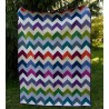 CHAMBRAY CHEVRON - patchwork deka, quilt