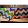 CHAMBRAY CHEVRON - patchwork deka, quilt