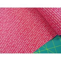 Látka L's Modern Spring-text (pink/bílá) Lecien Japan - 2