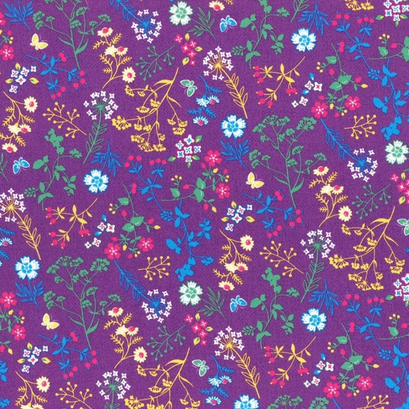 Látka L´s Modern Garden - PLUM Lecien Japan - 1