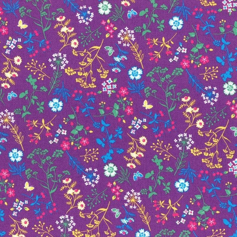 Látka L´s Modern Garden - PLUM