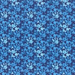 Látka L´s Modern Garden - COBALT BLUE PANSES Lecien Japan - 1