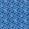 Látka L´s Modern Garden - COBALT BLUE PANSES