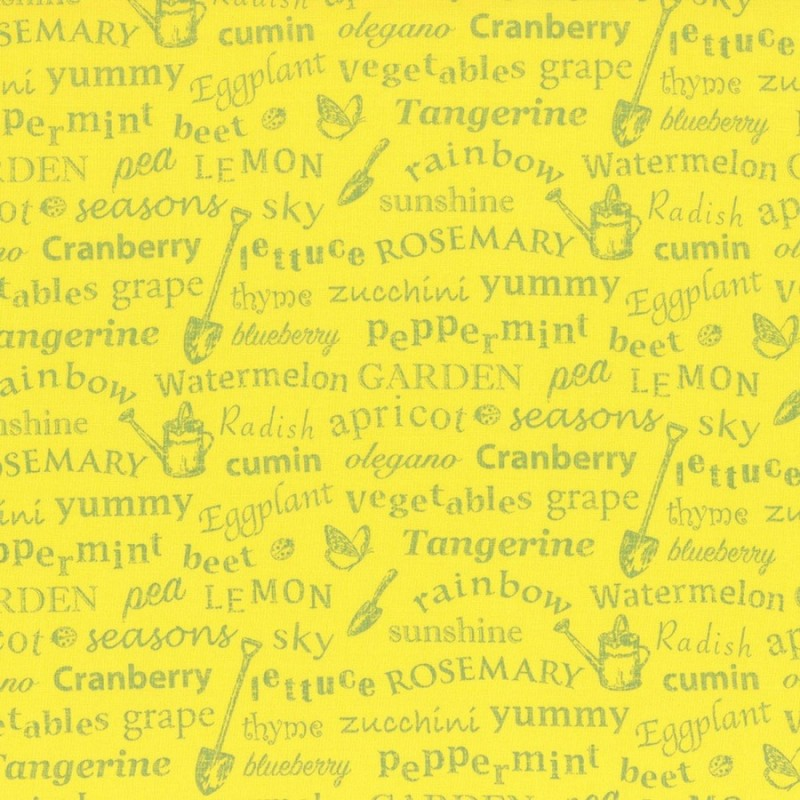 Látka L´s Modern Garden - SUNFLOWER GARDEN TEXT Lecien Japan - 1