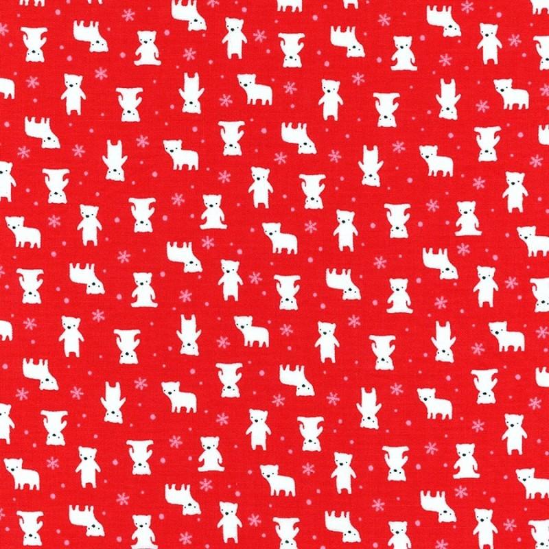 Látka MINI MUU SPRING 2016 - RED POLAR BEARS