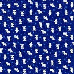 Látka MINI MUU SPRING 2016 - DARK BLUE POLAR BEARS Lecien Japan - 1