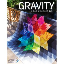 GRAVITY - BLOCK OF THE MONTH Jaybird Quilts - 1