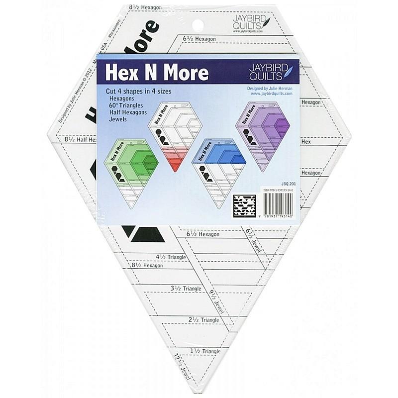 Pravítko na patchwork  Hex N More Ruler Jaybird Quilts - 1