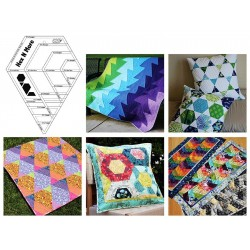 Pravítko na patchwork  Hex N More Ruler Jaybird Quilts - 2