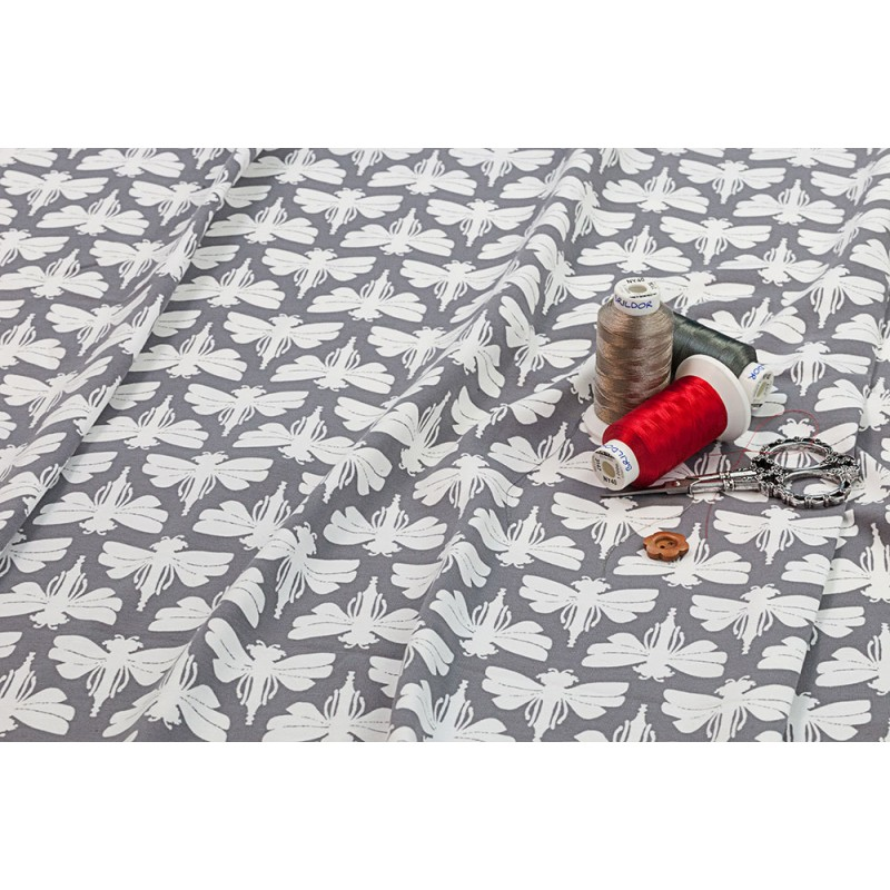 DRAGONFLIES - GRAY-cotton jersey