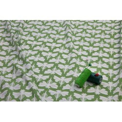 DRAGONFLIES - GREEN-cotton knit