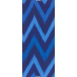 OMBRE LÁTKA - BLUE IKAT