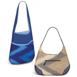 OMBRE STOFF - PFLAUME IKAT