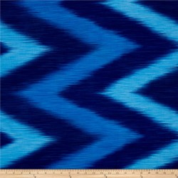 OMBRE LÁTKA - BLUE IKAT Timeless Treasures - 3