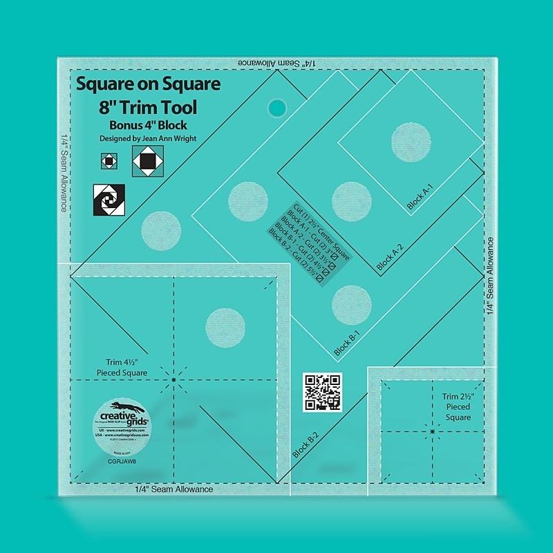 Creative Grids Square on Square Trim Tool - 4/8 in CREATIVE GRIDS - 1