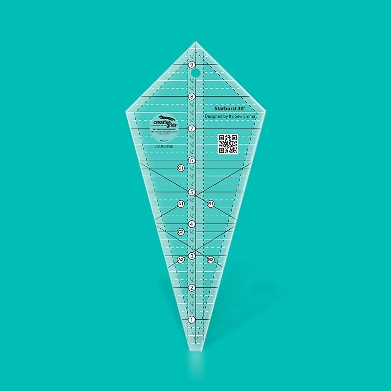 Starburst 30 Degree Triangle Ruler CREATIVE GRIDS - 1