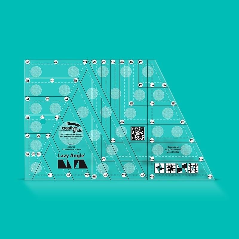 Pravítko na patchwork Lazy Angle Ruler CREATIVE GRIDS - 1