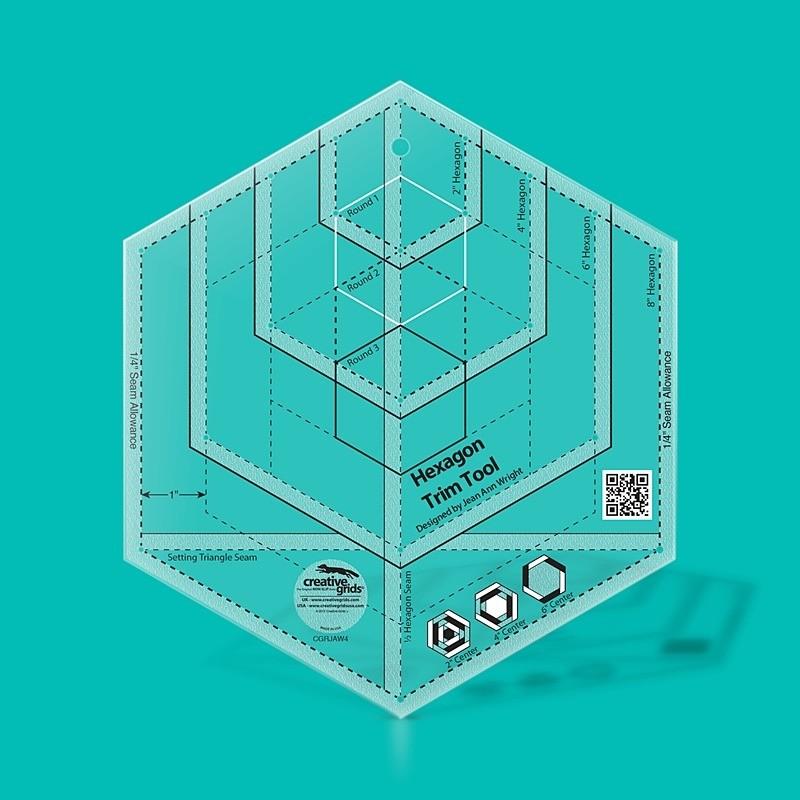 Pravítko Hexagon Trim Tool CREATIVE GRIDS - 1