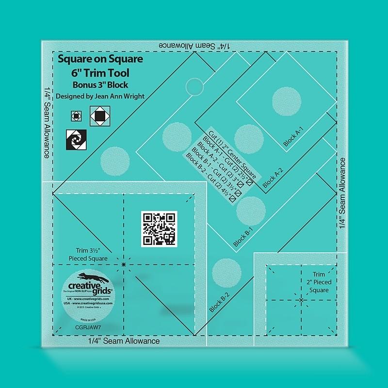 Creative Grids Square on Square Trim Tool - 6 inch