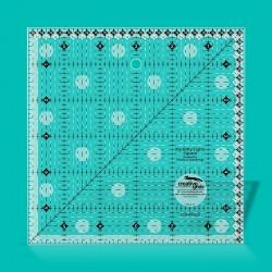 """Малюсенький-Разношерстное Eights Square Ruler 6"""" x 6"""""""
