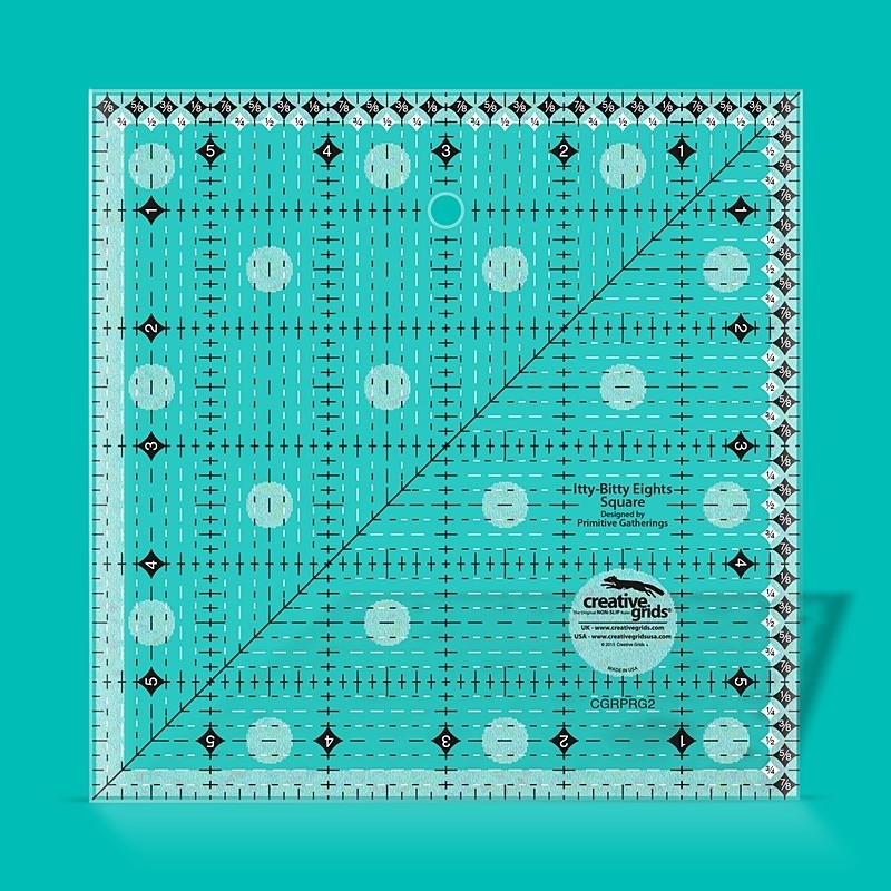 """Itty-Bitty Eights Square Ruler 6"""" x 6"""" CREATIVE GRIDS - 1"""