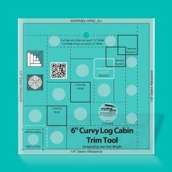 "Pravítko Curvy Log Cabin Trim Tool 6"" CREATIVE GRIDS - 1"