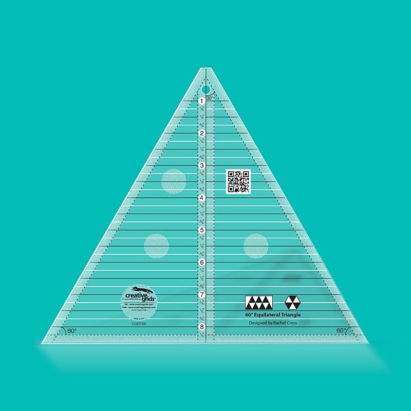 60° trojúhelníkové pravítko - 8 1/2  inch CREATIVE GRIDS - 1