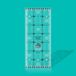 "Itty-Bitty Eights Rectangle Ruler 3"" x 7"""
