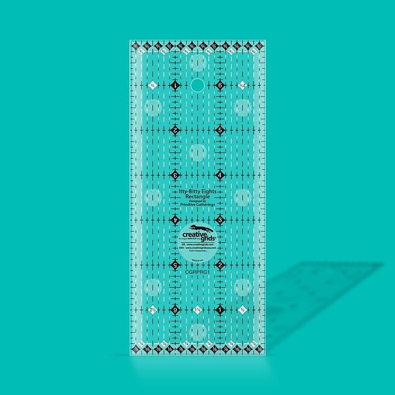"Itty-Bitty Eights Rectangle Ruler 3"" x 7"" CREATIVE GRIDS - 1"