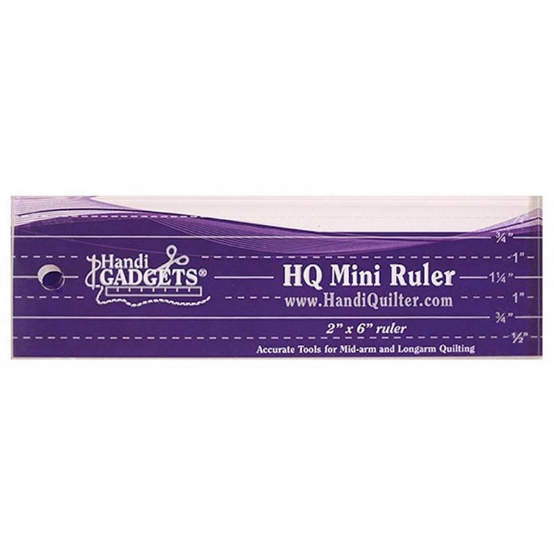 HQ Mini Ruler 2in x 6in HANDI QUILTER - 1