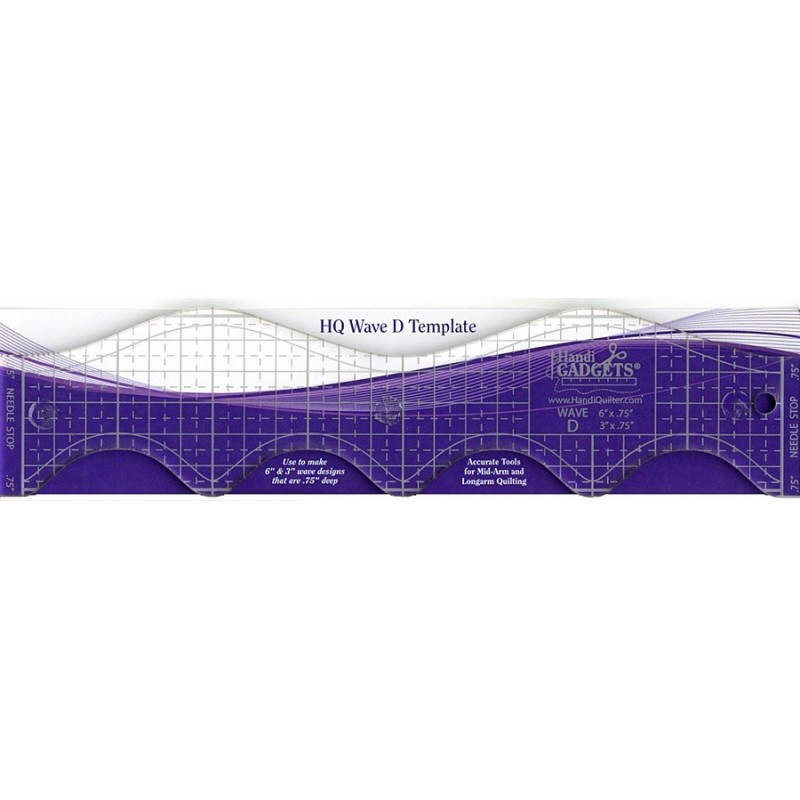 Wave Ruler D 6 inches & 3in