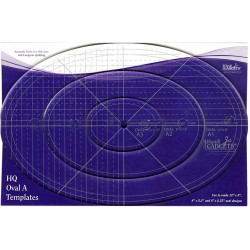 Oval Ruler A 12in 8in & 4inn HANDI QUILTER - 1
