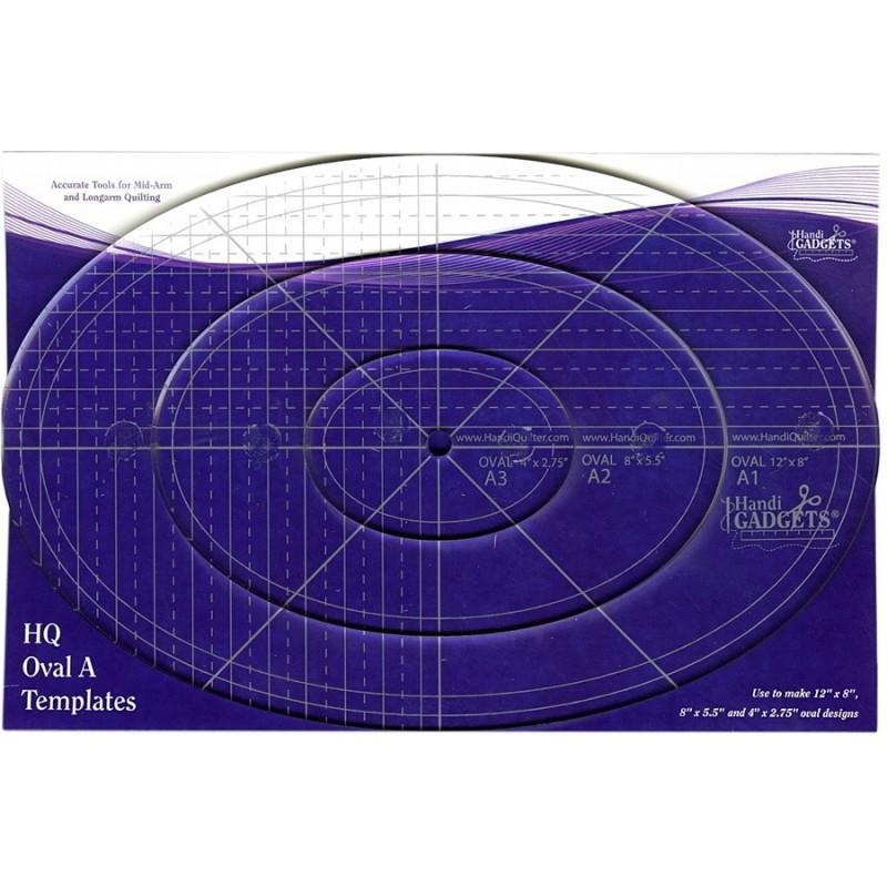 Oval Ruler A 12in 8in & 4inn HANDI QUILTER - 1