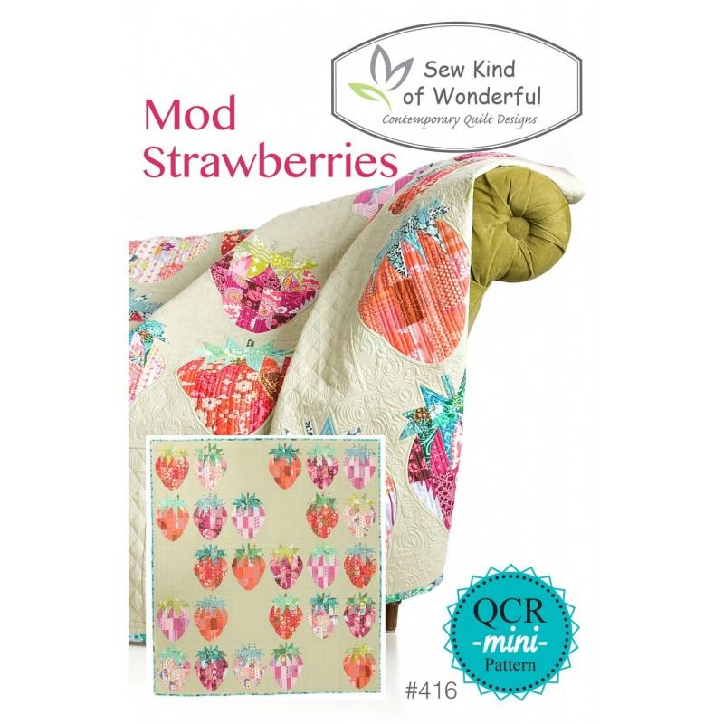MOD STRAWBERRIES Sew Kind of Wonderful - 1