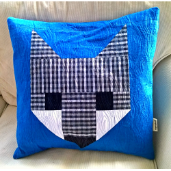 PILLOW FOXÍK BLUE