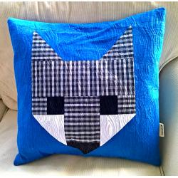 PILLOW FOXÍK BLUE