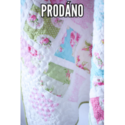 SOLD - PATCHWORK QUILT BABY - SLEEPING BEAUTY