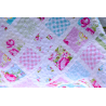 DEKY PATCHWORK QUILT BABY - SLEEPING BEAUTY 3330 Top this lovely quilt is sewn of substances from the koleke Sunshine Roses by