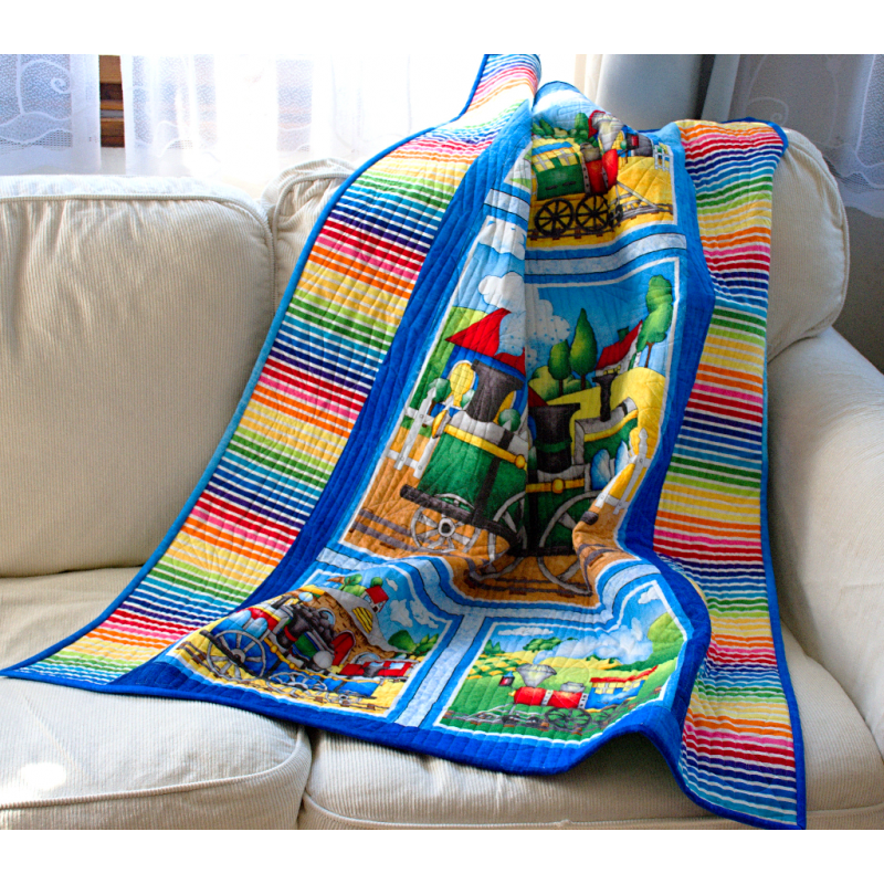 Dětská patchwork deka - MAŠINKY  - 1