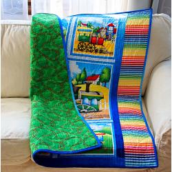 Dětská patchwork deka - MAŠINKY  - 2