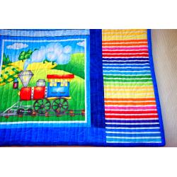 Dětská patchwork deka - MAŠINKY  - 4