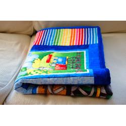 Dětská patchwork deka - MAŠINKY  - 5