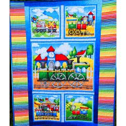 Dětská patchwork deka - MAŠINKY  - 6