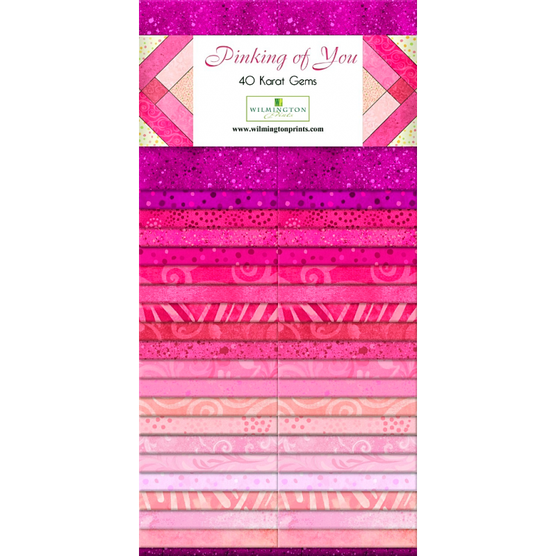 PINKING OF YOU - JELLY ROLL Wilmington prints - 1