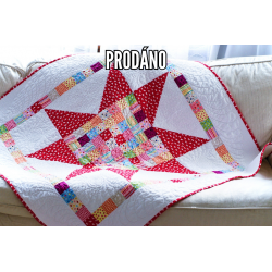 SOLD - PATCHWORK QUILT BABY - BIG STAR
