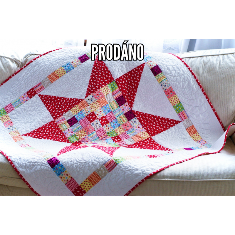 PRODÁNO - PATCHWORK DEKA DĚTSKÁ - BIG STAR