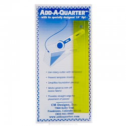 Add A-Quarter Ruler 1in x 6in CM DESIGNS - 1