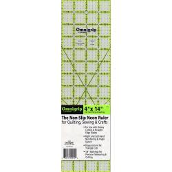 Omnigrip Neon Ruler 4in x 14in  - 1
