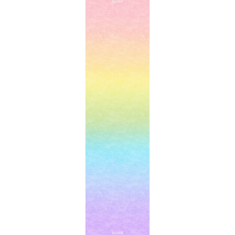 OMBRE LÁTKA - PASTEL RAINBOW GRADATION Timeless Treasures - 1